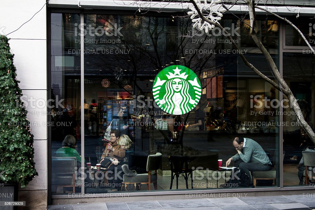 Starbucks store in Berlin stock photo
