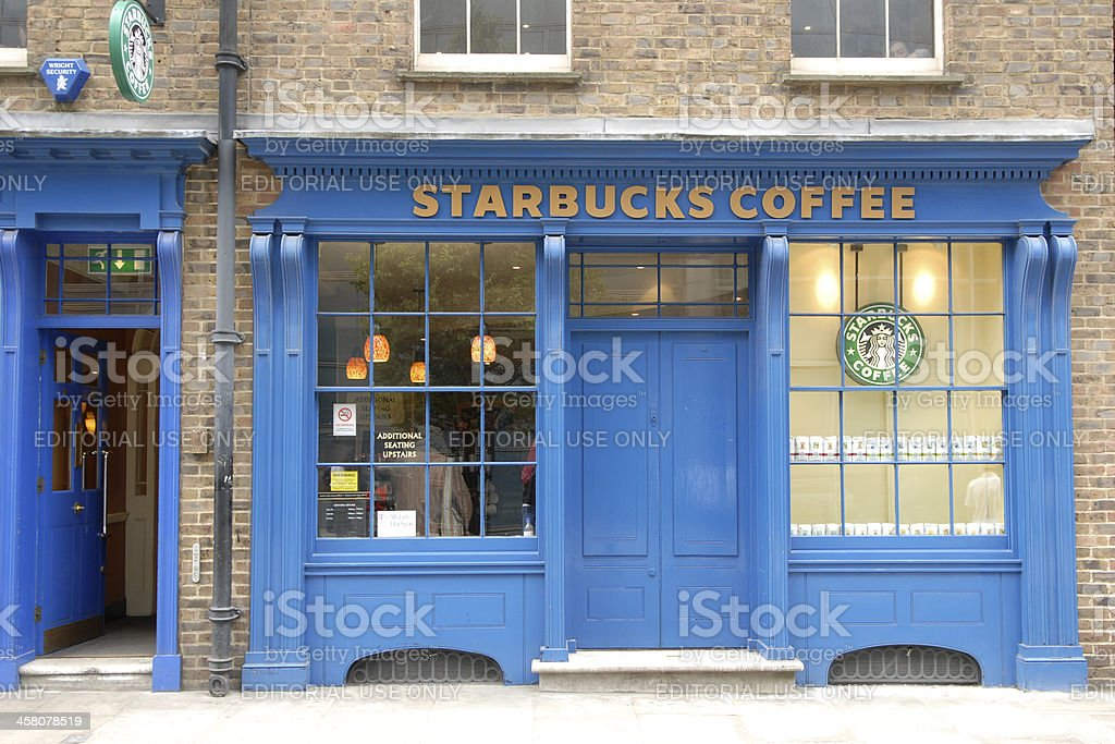 Starbucks Storefront in London royalty-free stock photo