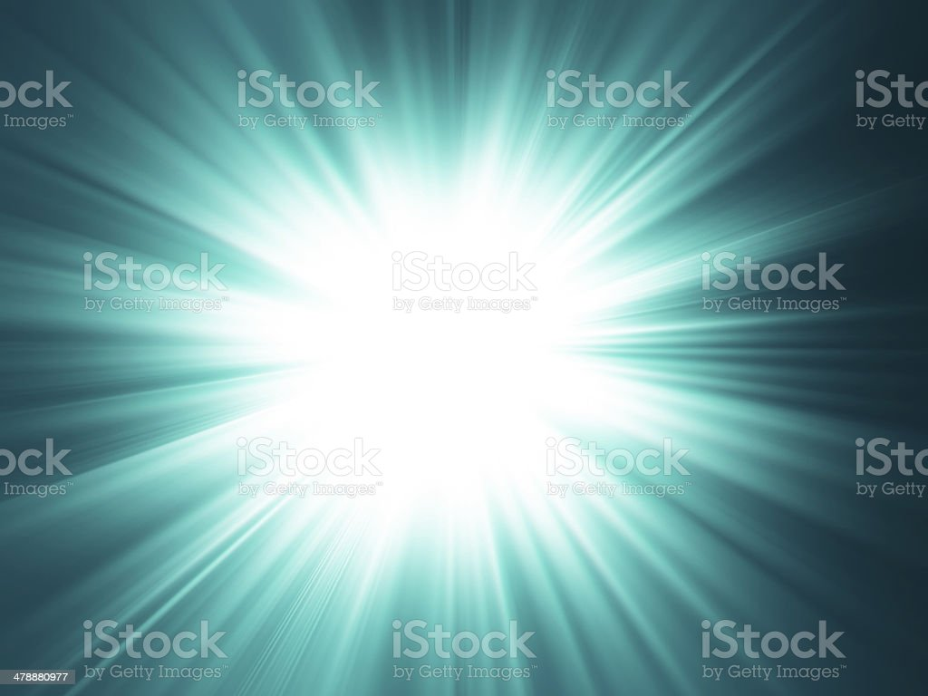 Starburst background, sunbeams going in all directions, green and black royalty-free stock photo