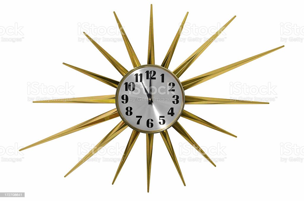 Starburst Clock 11:00 royalty-free stock photo