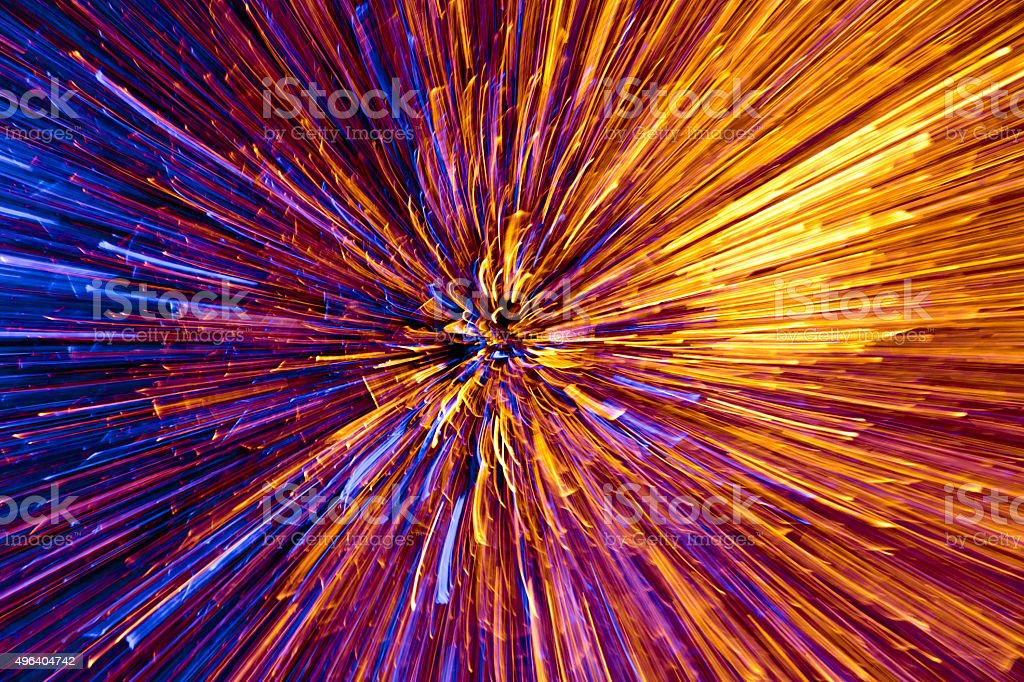 Starburst From Flying Apart Sparks stock photo