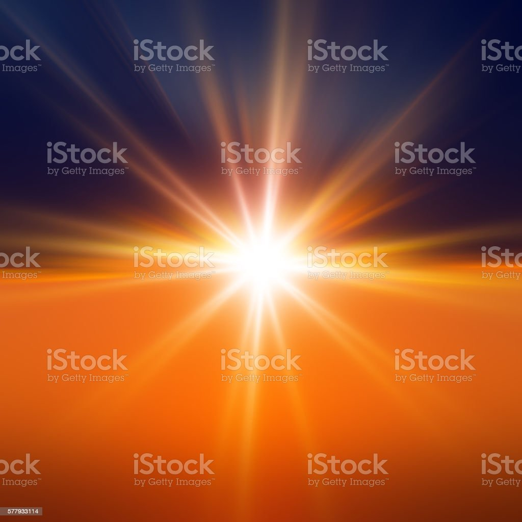 Starburst Light Beam Abstract Defocused Background stock photo