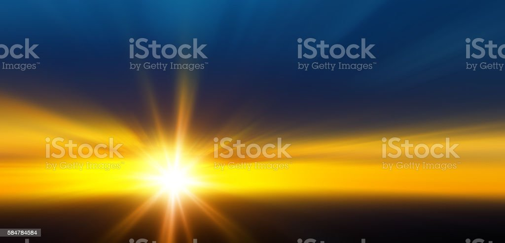 Starburst Light Beam Abstract Defocused Background stock photo
