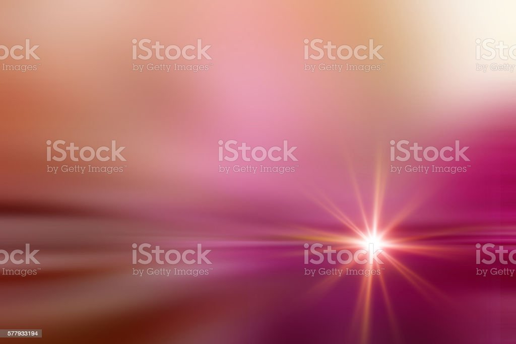 Starburst Light Beam Abstract Defocused Background Rose Quartz Pantone Color stock photo