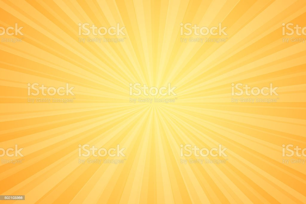 Starburst Orange Light Beam Abstract Background vector art illustration