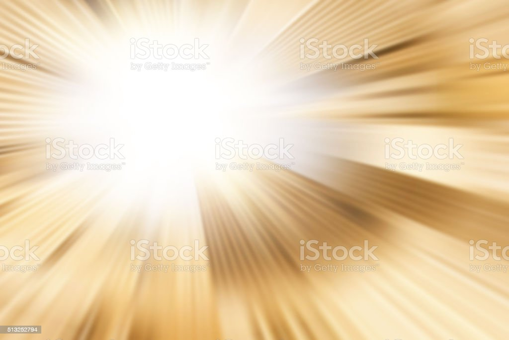 Starburst Yellow Light Beam Abstract Background stock photo