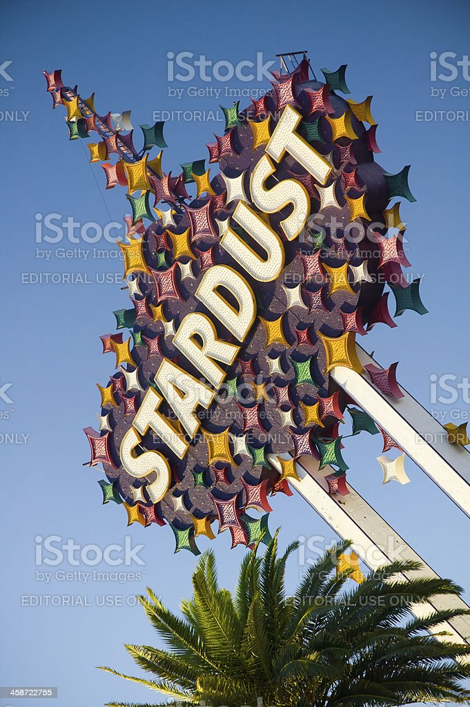 Stardust Hotel and Casino sign stock photo
