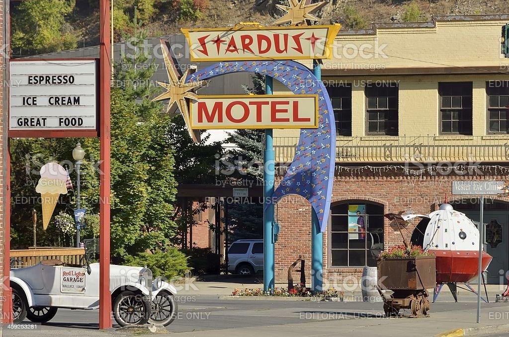 Stardust Motel, Wallace, Idaho royalty-free stock photo