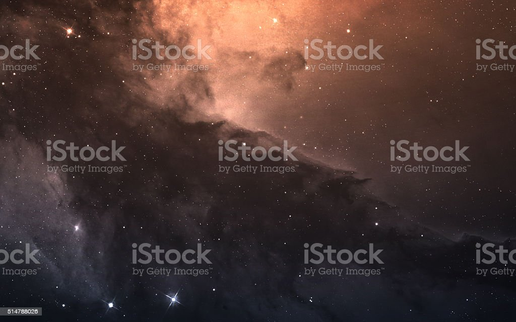 Starfield in deep space many light years far from the stock photo