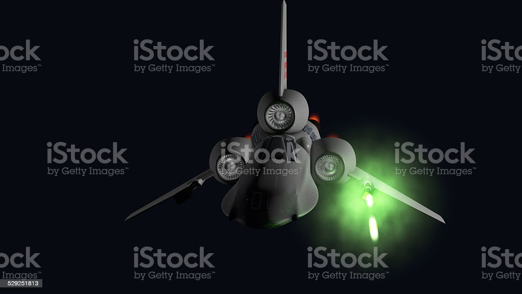 starfighter front firing stock photo