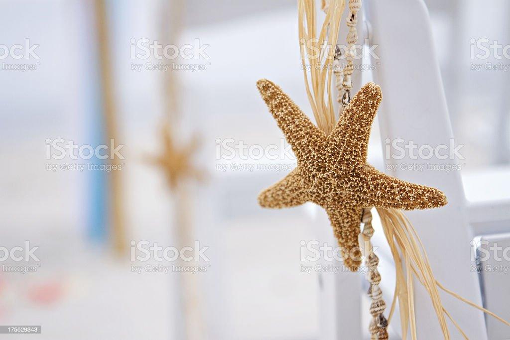 Starfish Beach Wedding Decor royalty-free stock photo