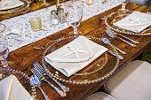 Starfish Table setting