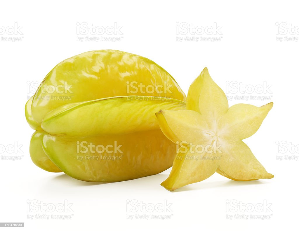 starfruit and slice stock photo