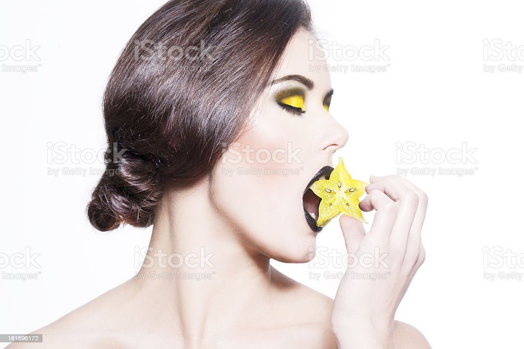 Starfruit beauty royalty-free stock photo