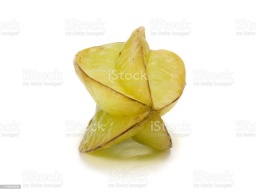 Starfruit on white royalty-free stock photo