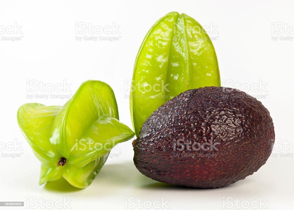 Starfruits and Avocado royalty-free stock photo