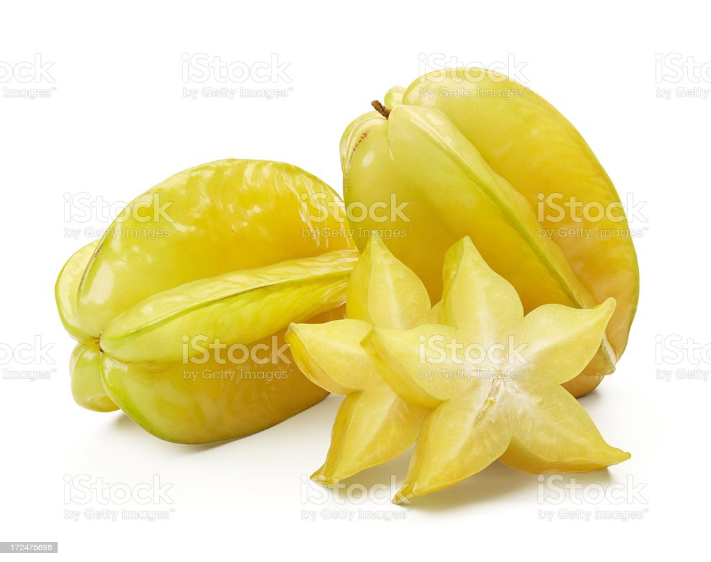starfruits and slices royalty-free stock photo