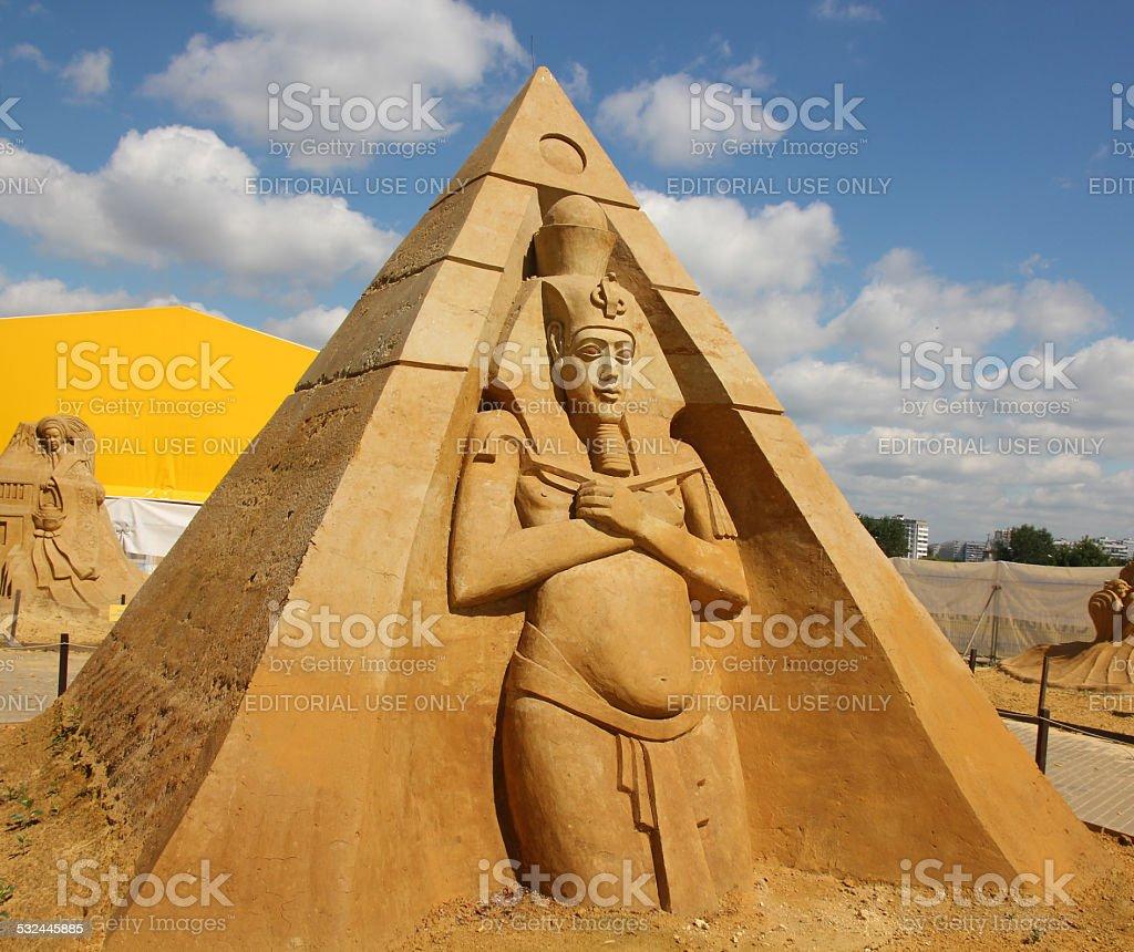 'Stargate'. Akhenaten (Amenhotep IV) - Pharaoh of Ancient Egypt. stock photo