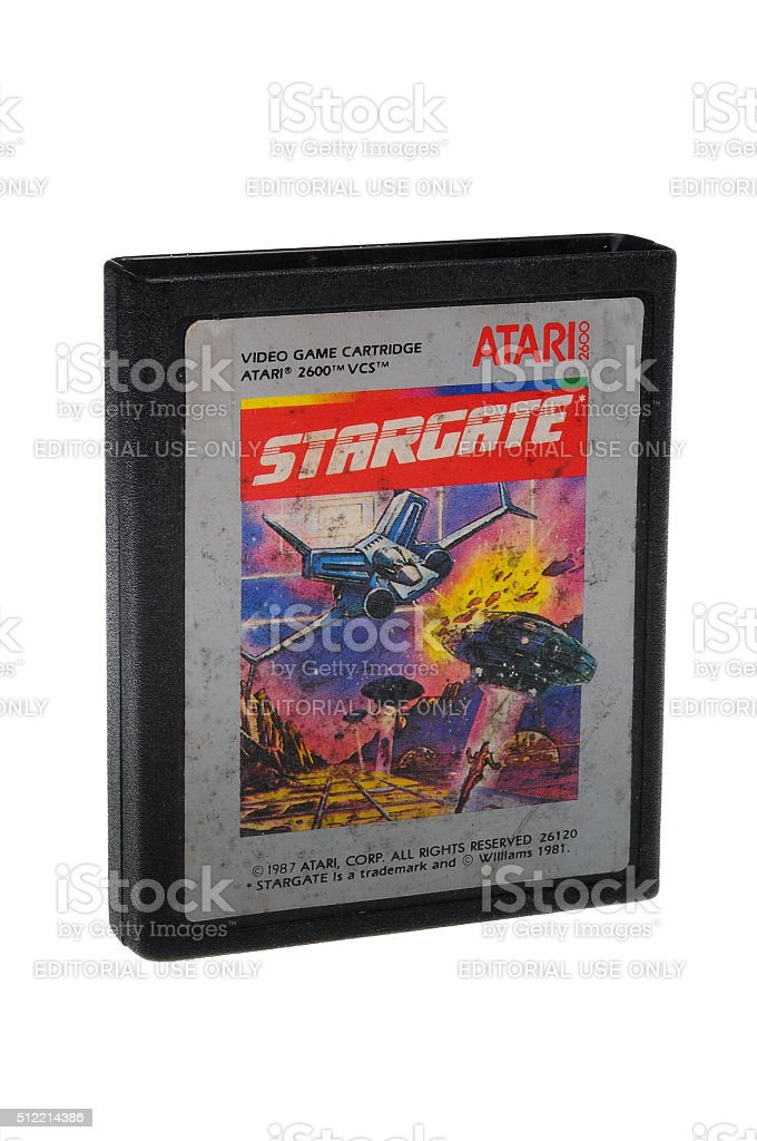 Stargate Atari 2600 Game Cartiridge stock photo