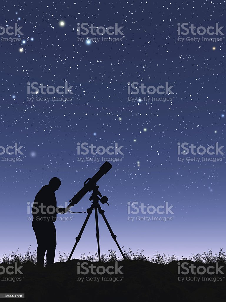 Stargazer stock photo
