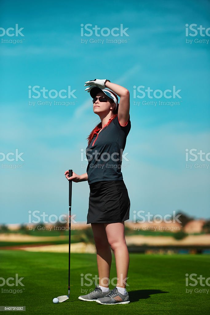 staring at my golf ball stock photo