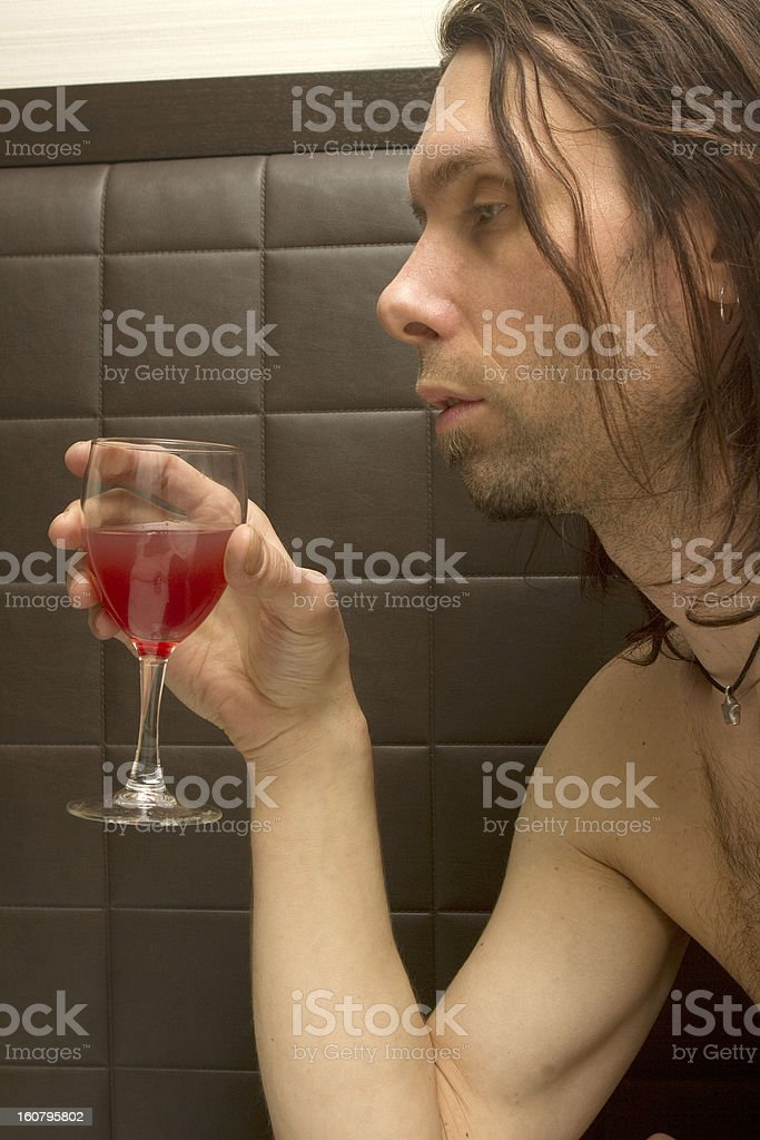 Staring at The Glass royalty-free stock photo
