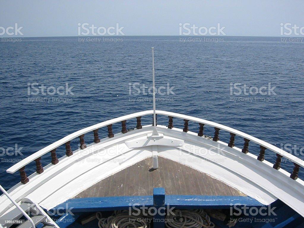 Staring at the sea royalty-free stock photo