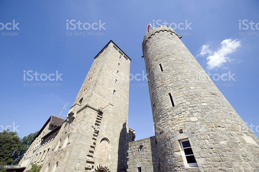 Starkenburg at Heppenheim, Germany. stock photo