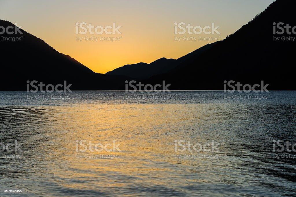 Starkly Simple Alpenglow stock photo
