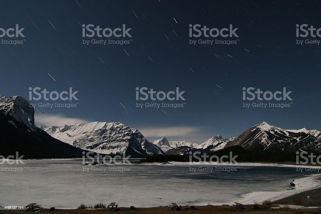 Starlight picnic stock photo