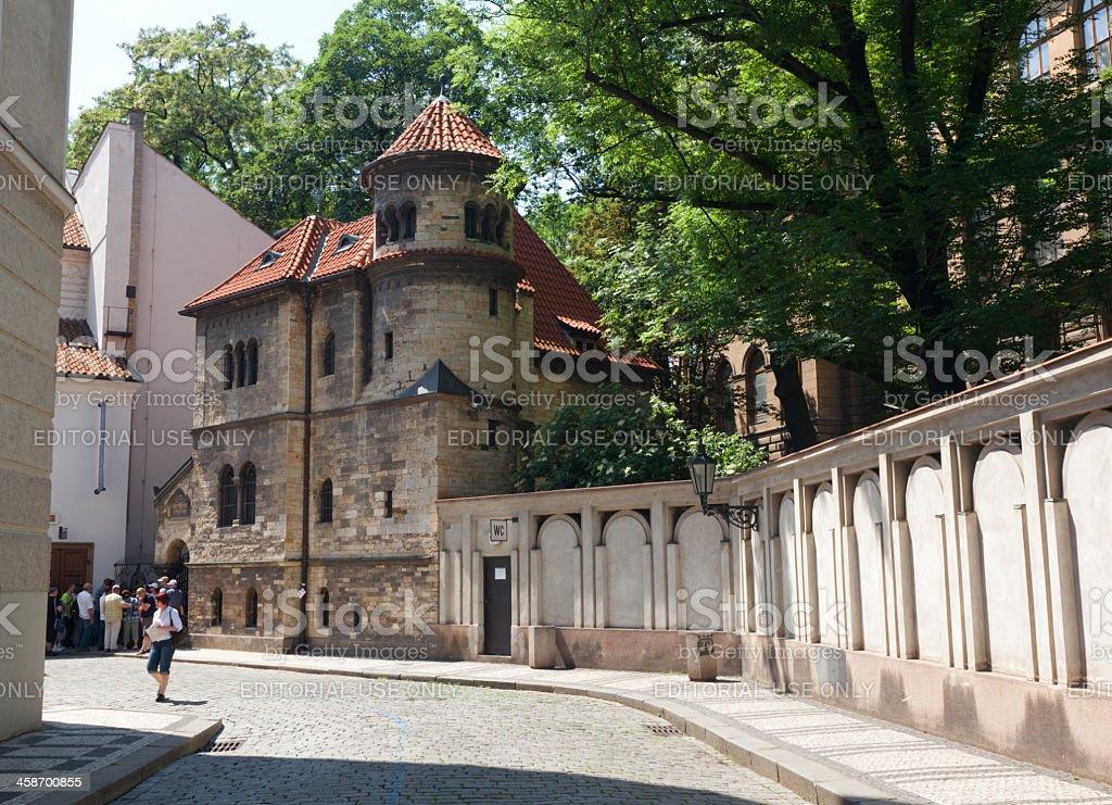 Staronova synagogue royalty-free stock photo