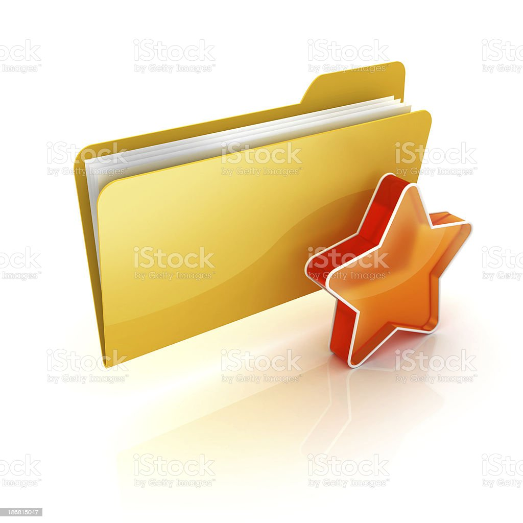 starred or favorite royalty-free stock photo