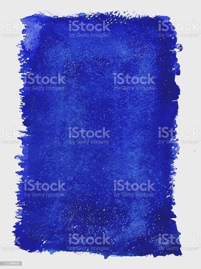 Starry Blue Frame royalty-free stock photo