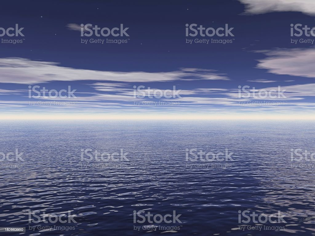 starry blue sky royalty-free stock photo
