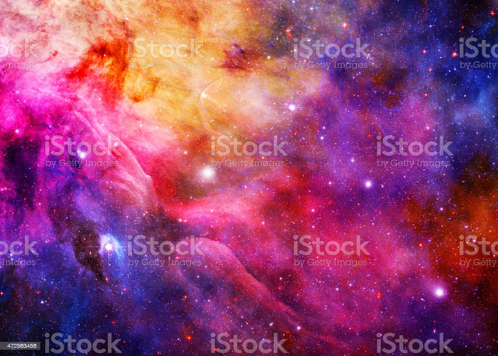 Starry Galaxy - Elements of this Image Furnished by NASA stock photo