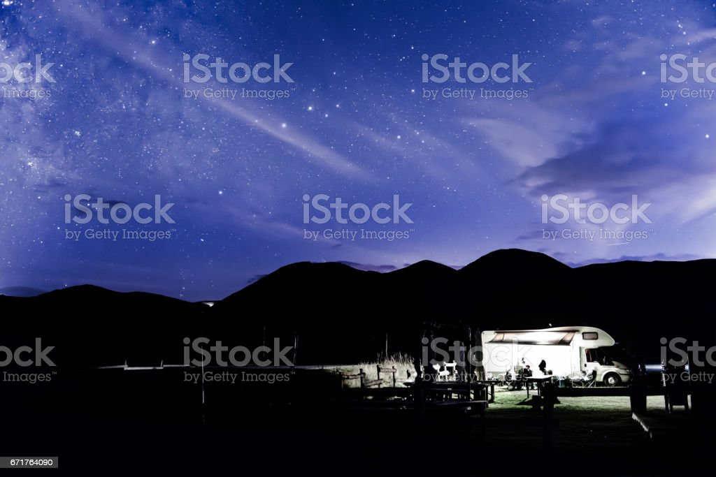 Starry Night in Italy stock photo
