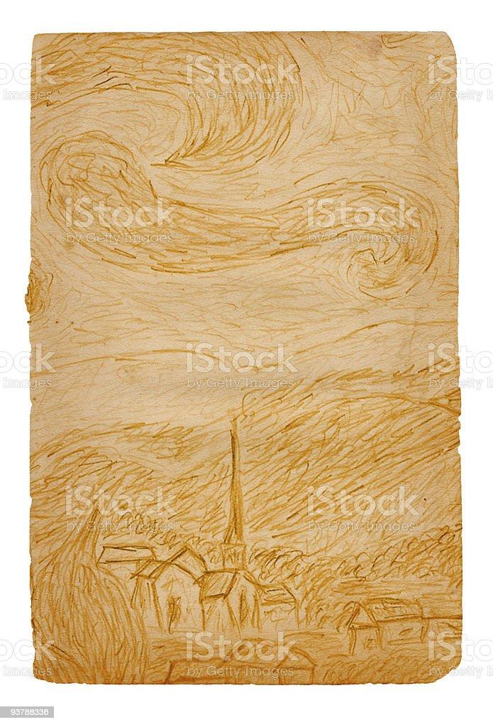 Starry Night Paper XXL royalty-free stock photo