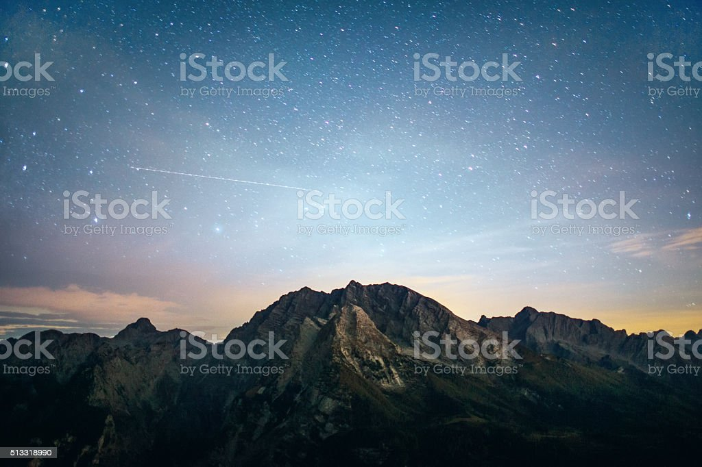 Starry night stock photo