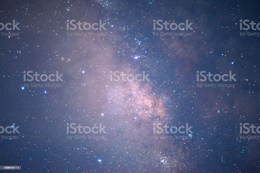 Starry night sky background stock photo