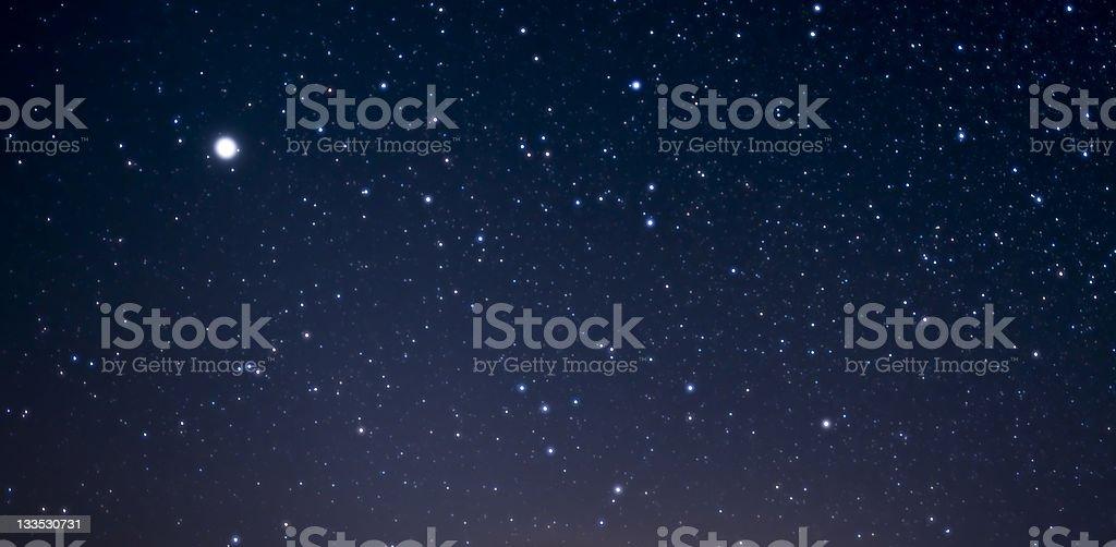 Starry Night Sky stock photo