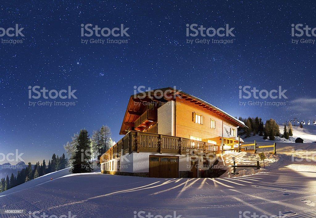 Starry panorama stock photo