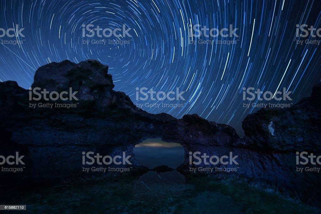 starry sky cyprus stock photo