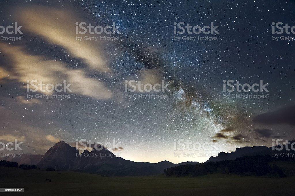 Starry sky: Milky Way royalty-free stock photo