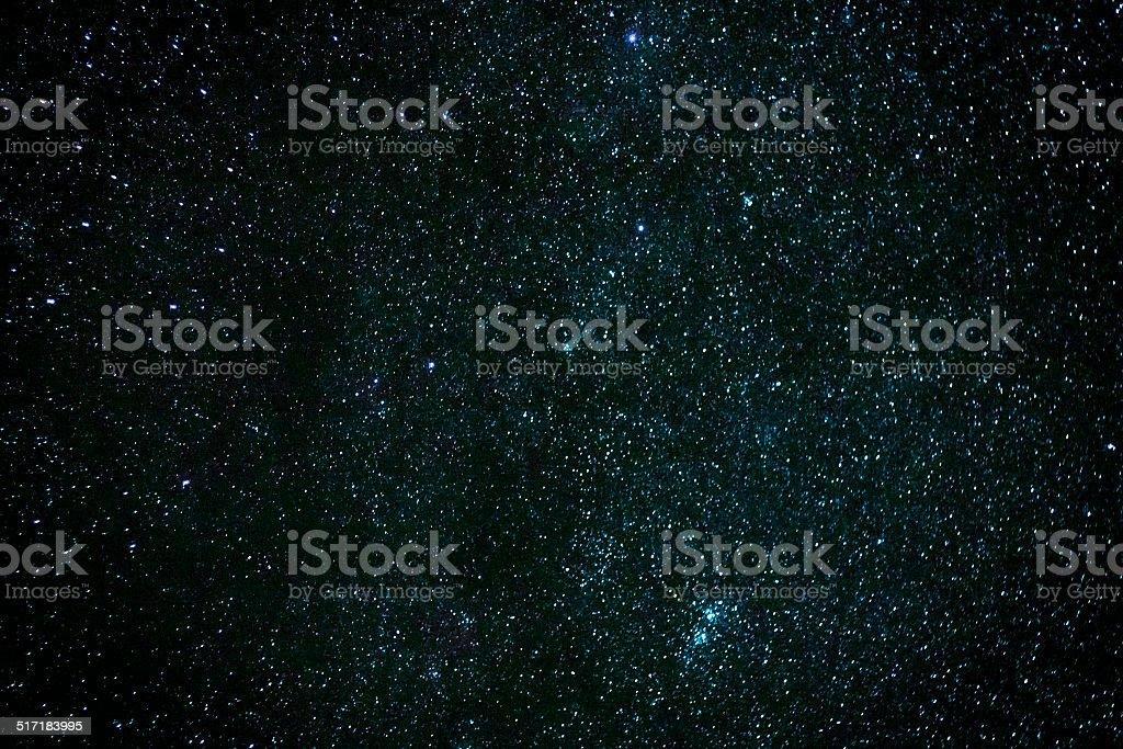 Starry sky. stock photo