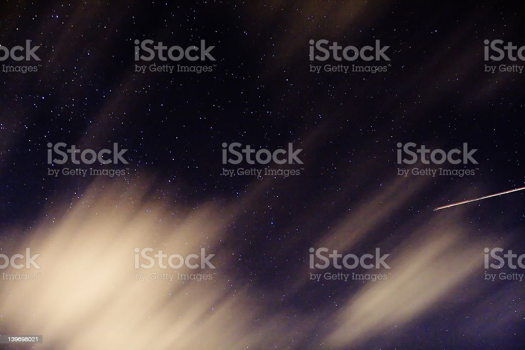 stars and clouds stock photo