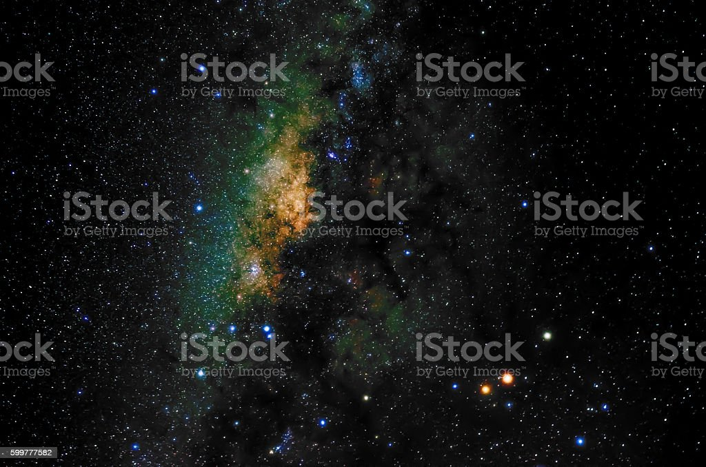 Stars and galaxy space sky night background stock photo