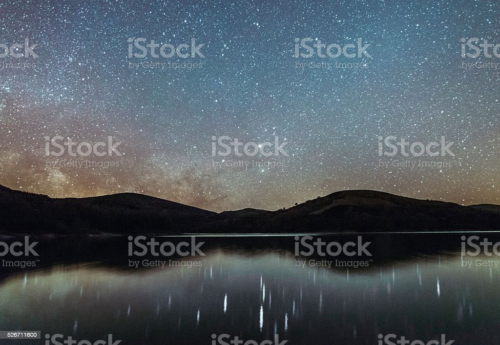 Stars and reflections stock photo