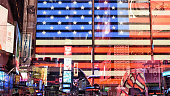 stars and stripes and neon signs