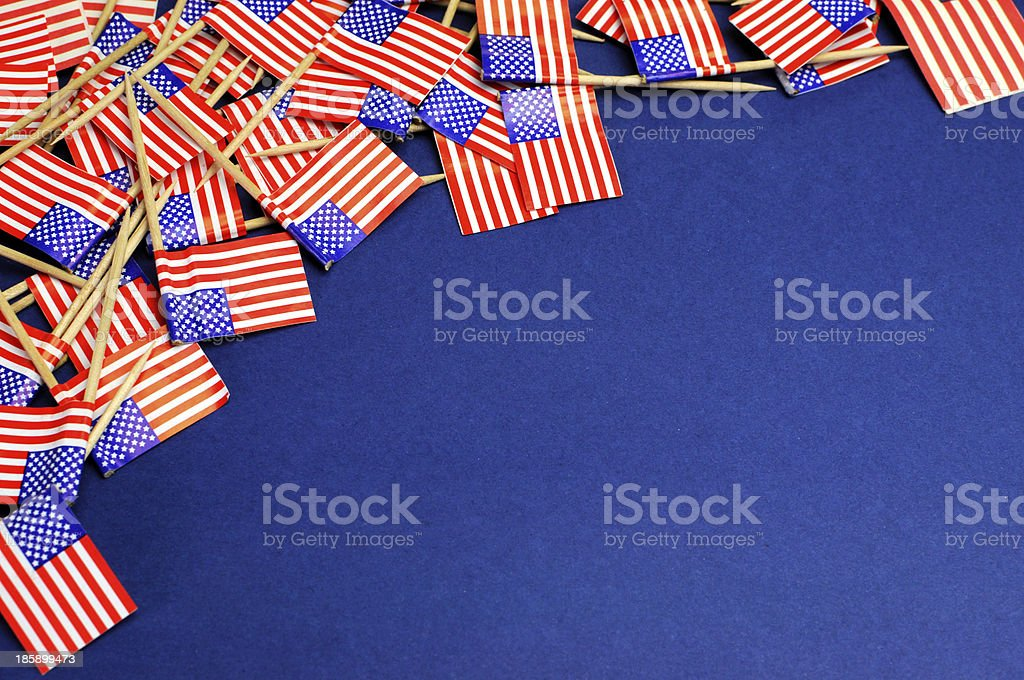 USA Stars and Stripes flags background stock photo