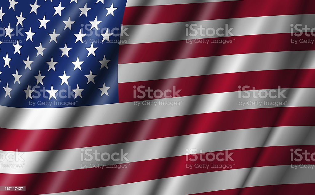 USA Stars and Stripes Flying American Flag royalty-free stock photo